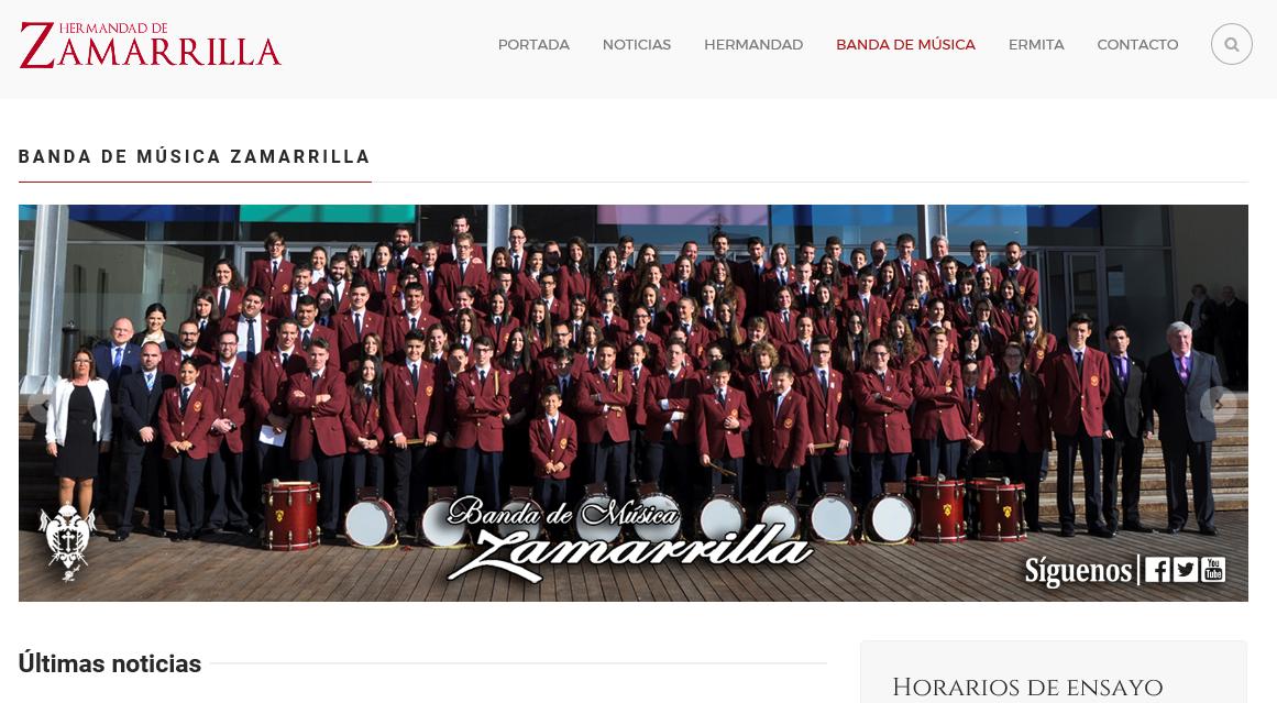 Inauguramos nuestra Web de Banda
