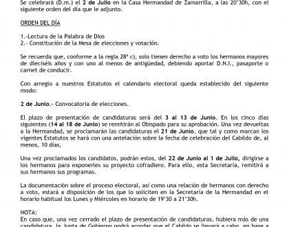 2 de Julio: Cabildo General de Elecciones