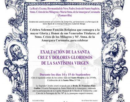 Exaltación de la Santa Cruz y Dolores Gloriosos de la Santísima Virgen. (14 y 15 de Septiembre)