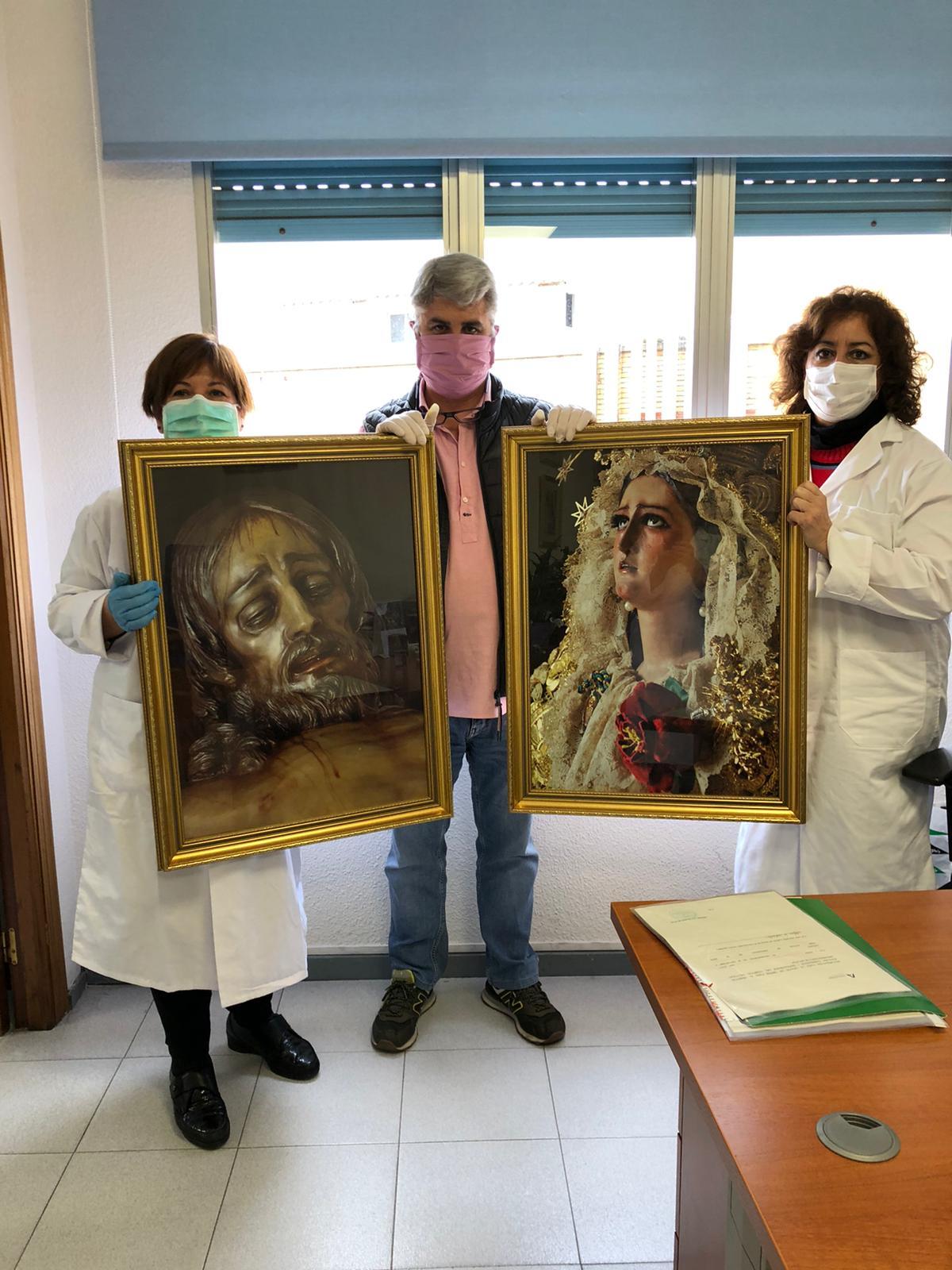 Titulares en el hospital de campaña en Carranque