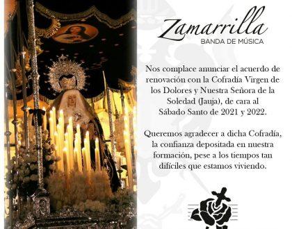 RENOVACIÓN DEL CONTRATO MUSICAL CON LA HERMANDAD DE JAUJA