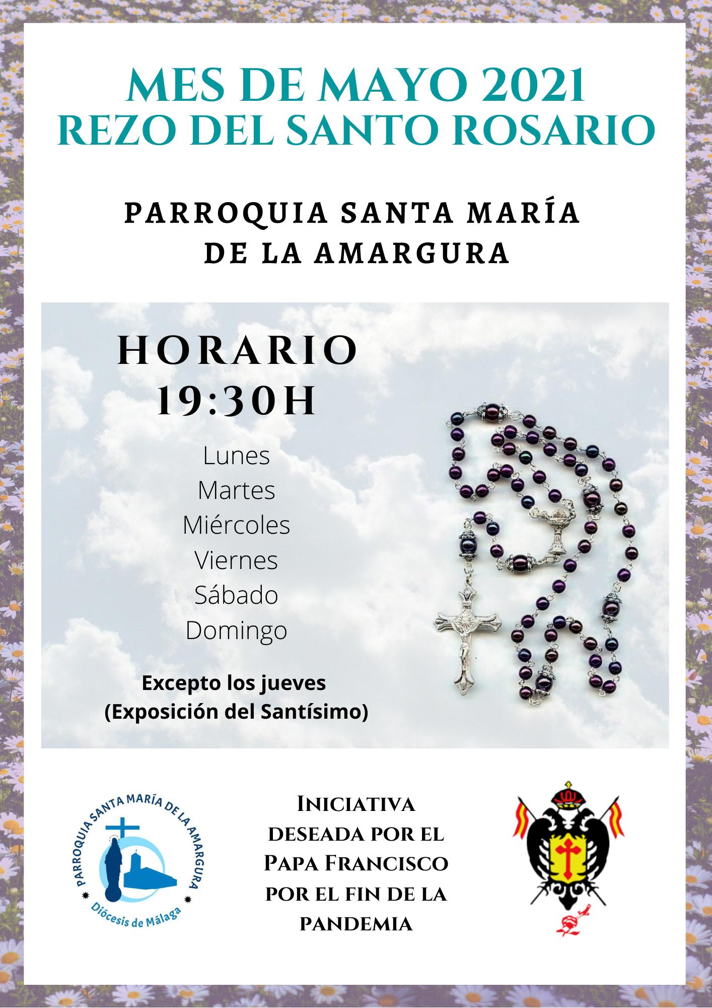 REZO DEL SANTO ROSARIO DURANTE EL MES DE MAYO EN LA PARROQUIA