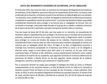 ACTOS CONMEMORATIVOS GESTA ALCÁNTARA